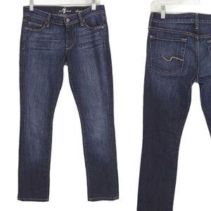 7 For all Mankind Straight Leg Dark Wash Jeans 27